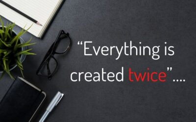 """Everything is created twice""…."